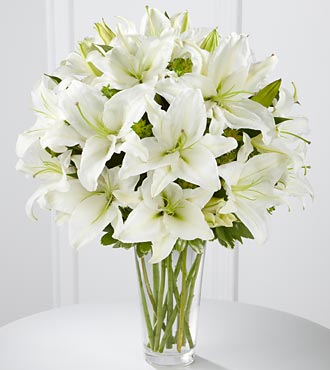 The Spirited Grace Lily Bouquet - VASE INCLUDED