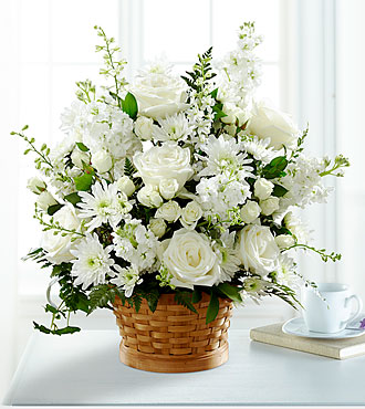 Heartfelt Condolences Arrangement- BASKET INCLUDED